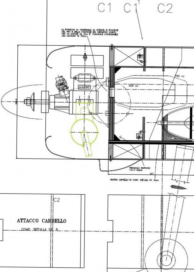 il propulasore visto da un'altra angolazione, compreso l'impianto di alimentazione