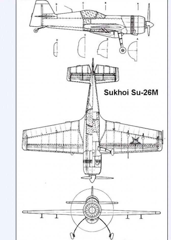 trittico originale dell'aereo, molto utile per ricavare tutte le misure.